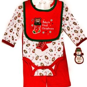 Baby Gear - Baby's First Christmas 4 piece set-NWT